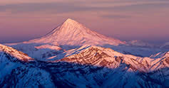 Mount Damavand in winter
